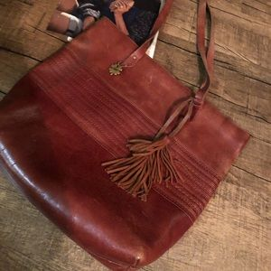 Lucky Brand Tasseled Leather Weekender